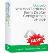 Magento New and Featured Items Display Configuration Service